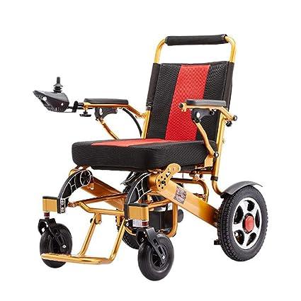 Y&XF Silla de Ruedas eléctrica Plegable Fold & Travel ...