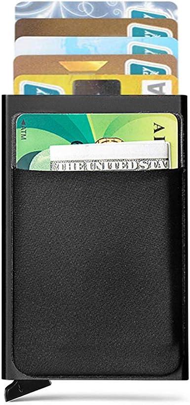 Vintage Men/'s Clip Credit Card ID Card Paper Money Bag Business Holder Case