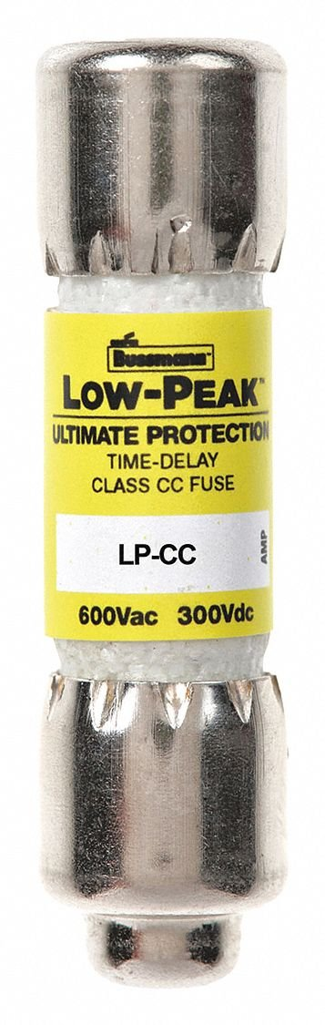 6/10A Time Delay Melamine Fuse with 600VAC/300VDC Voltage Rating; LP-CC Series