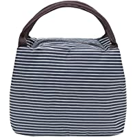 Wschic Striped Lunch Bag,Insulated Lunch Bag Picnic Cool Bag Lunch Box Bag
