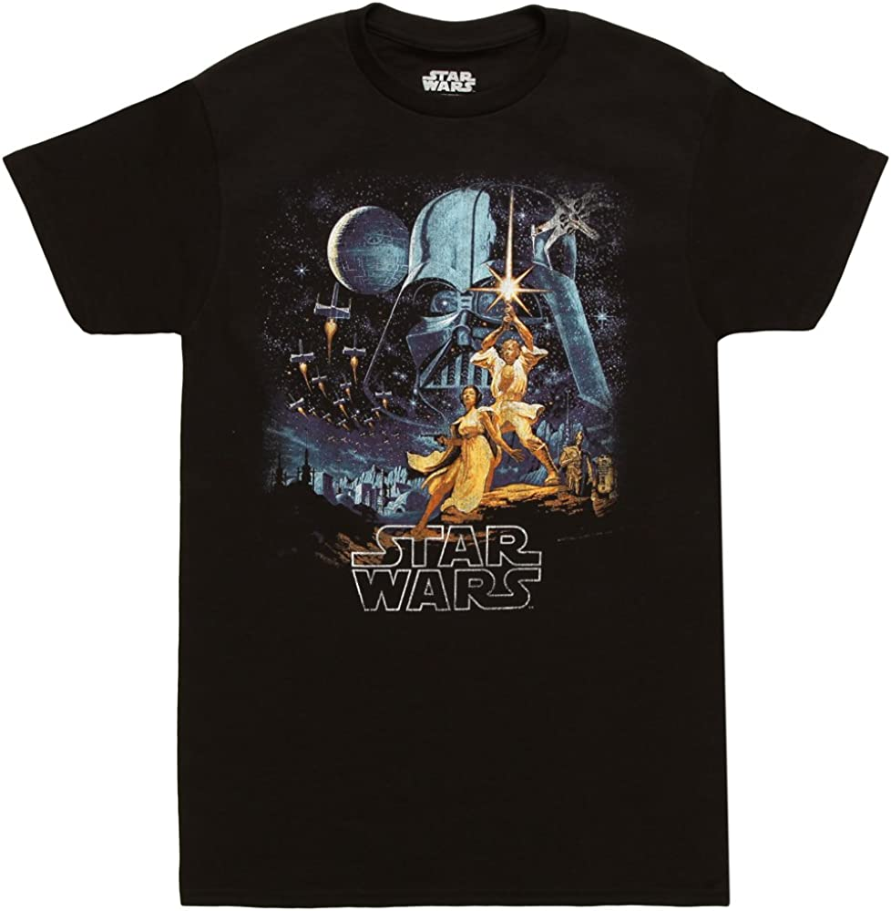 Star Wars A New Hope Vintage Poster Adult T-Shirt