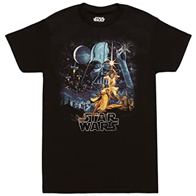 21219814 Amazon.com: Star Wars A New Hope Vintage Poster Adult T-Shirt: Clothing