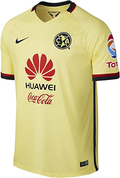 Amazon.com   Nike Mens Club America Home Stadium Jersey  Lemon ... fa3f4871252d