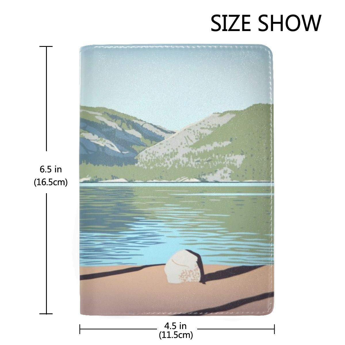 Pinecrest Lake Evening Fashion Leather Passport Holder Cover Case Travel Wallet 6.5 In