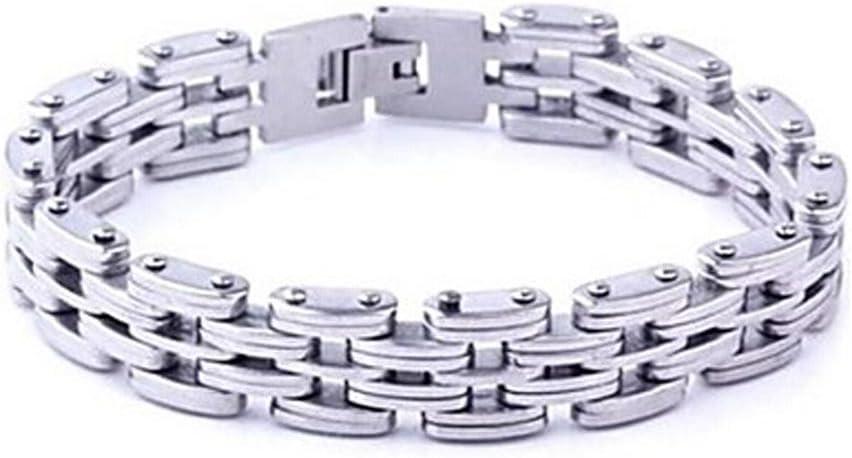 GYJUN de acero de titanio personalidad de la moda pulseras de empalme de los hombres