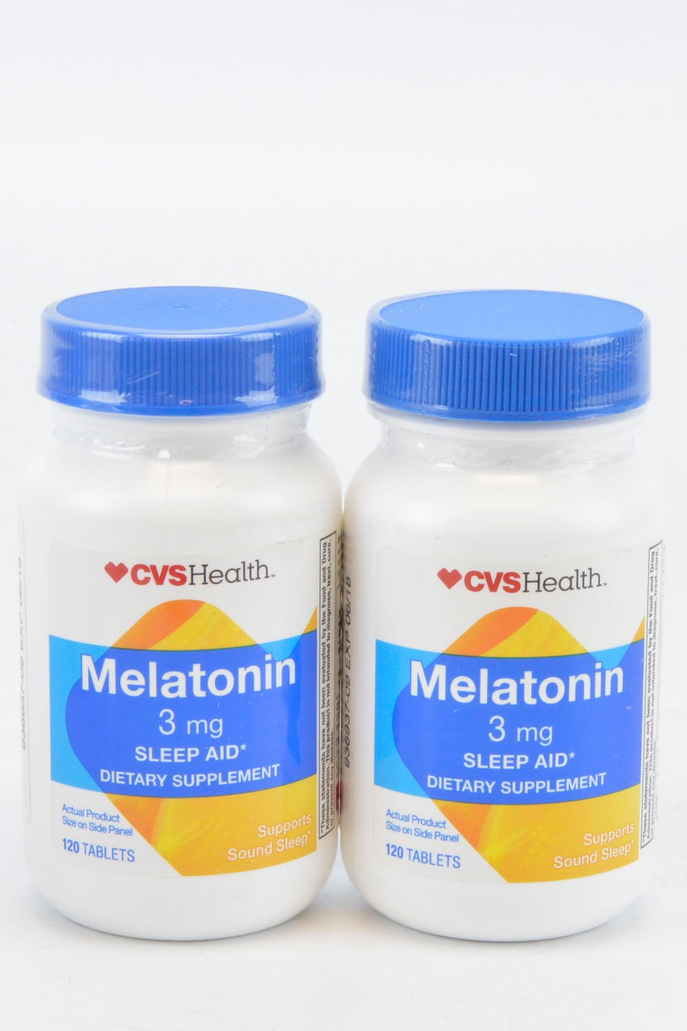 Amazon.com: (Pack of 2) CVS Melatonin 3mg Dietary Supplement 120 Tablets: Health & Personal Care