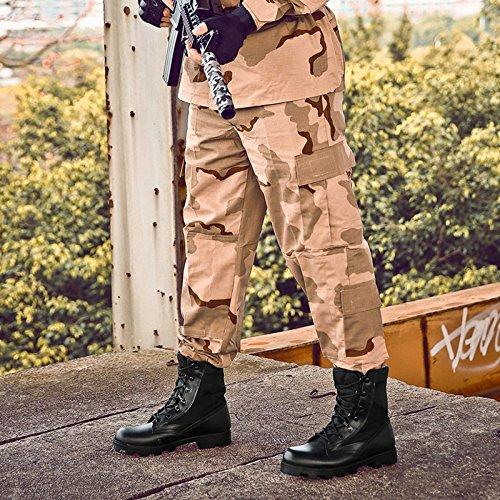Speciali Boot Campeggio MERRYHE Tactical Combat Security Arrampicata Lace Sport Outdoor Police Boots Army Military Boots Escursionismo Black Da Ups Scarpe Forze 7HUBx7p
