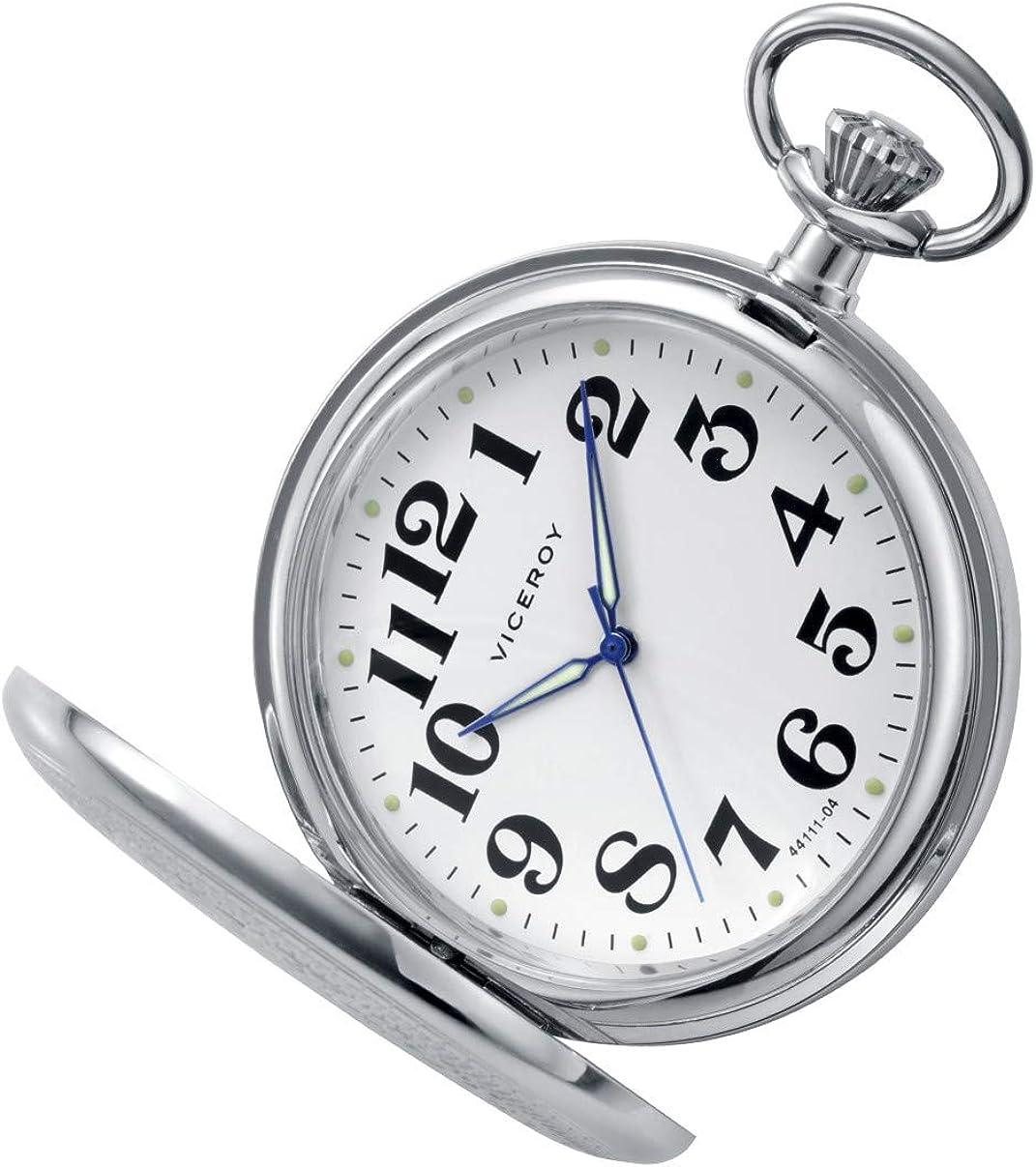 Reloj Viceroy Bolsillo 44111-04 con Cadena IP Plateado