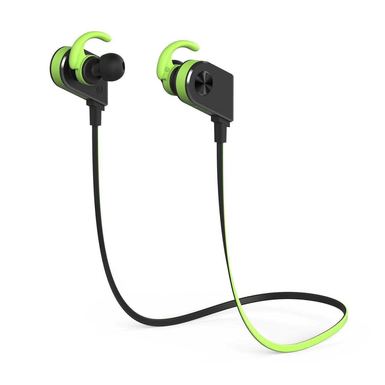 Auricolare Bluetooth, YXwin Auricolare Bluetooth Sport Stereo V4.1 CSR Controllo con magneti Per Iphone Ipad Sony Huawei Samsung e altricellulari Android - Verde Nero
