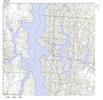 Amazon.com: Seattle, WA ZIP Code Map Laminated: Home & Kitchen