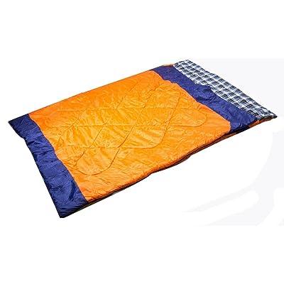 À L'extérieur En Couple En Double De Coton En Plastique Amovible Sac De Couchage Sac De Couchage De Camping Spring,185+35*35cm-Orange
