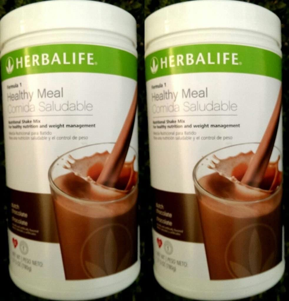 2 HERBALIFE FORMULA 1 NUTRITIONAL SHAKE Dutch Chocolate MIX Shipped from USA And Fast Shipping