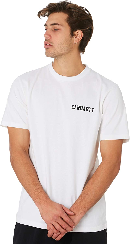 Carhartt Camiseta WIP S/S College Script para Hombre: Amazon.es ...