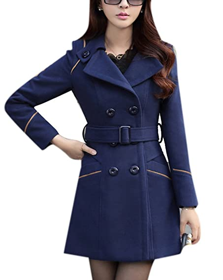 Amazon.com: Youtobin Women's New Style Winter Dress-Coats Slim ...