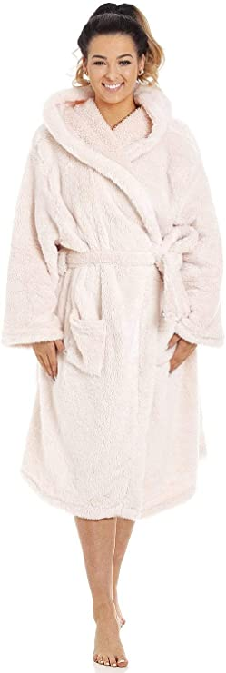 Camille Peignoir//robe de chambre avec Capuche-Supersoft /& Choix De Couleurs