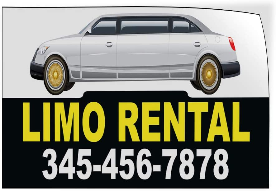 Custom Door Decals Vinyl Stickers Multiple Sizes Limo Rental Phone Number Black Business Limo Rental Outdoor Luggage /& Bumper Stickers for Cars Black 58X38Inches Set of 2