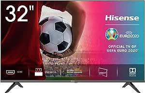"Hisense 32AE5000F - TV, Resolución HD, Natural Color Enhancer, Dolby Audio, HDMI, USB, Salida auriculares, TV HD 2020, 32"""