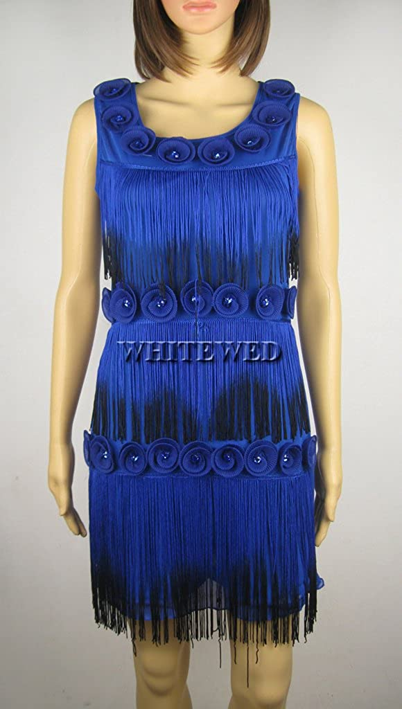 Whitewed Great Gatsby Flapper Halloween Costume Outfit and Accessories for Women