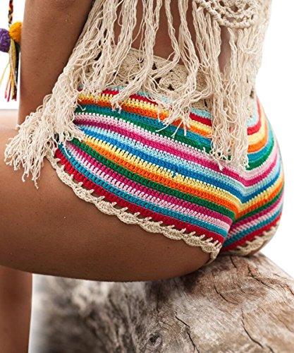 03919b9eeb BeadChica Women Crochet Bikini Set Knit 2PCS Bathing Suit Swimsuit  Beachwear - Bikini Online Shop