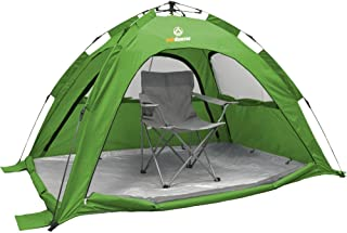 SunSnapper d'Outdoorer – montage rapide automatique de la tente de plage avec protection solaire 80, aération optimale, protection contre les insectes aération optimale protection contre les insectes (vert) 0728795048228