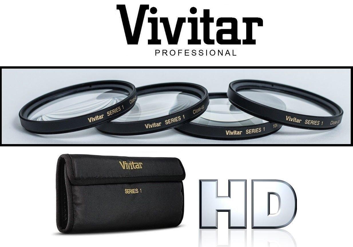 4Pcs Vivitar +1/+2/+4/+10 Close Up Macro Lens Kit For Panasonic Lumix DMC-GX7 (46mm Compatible) by -vivitar