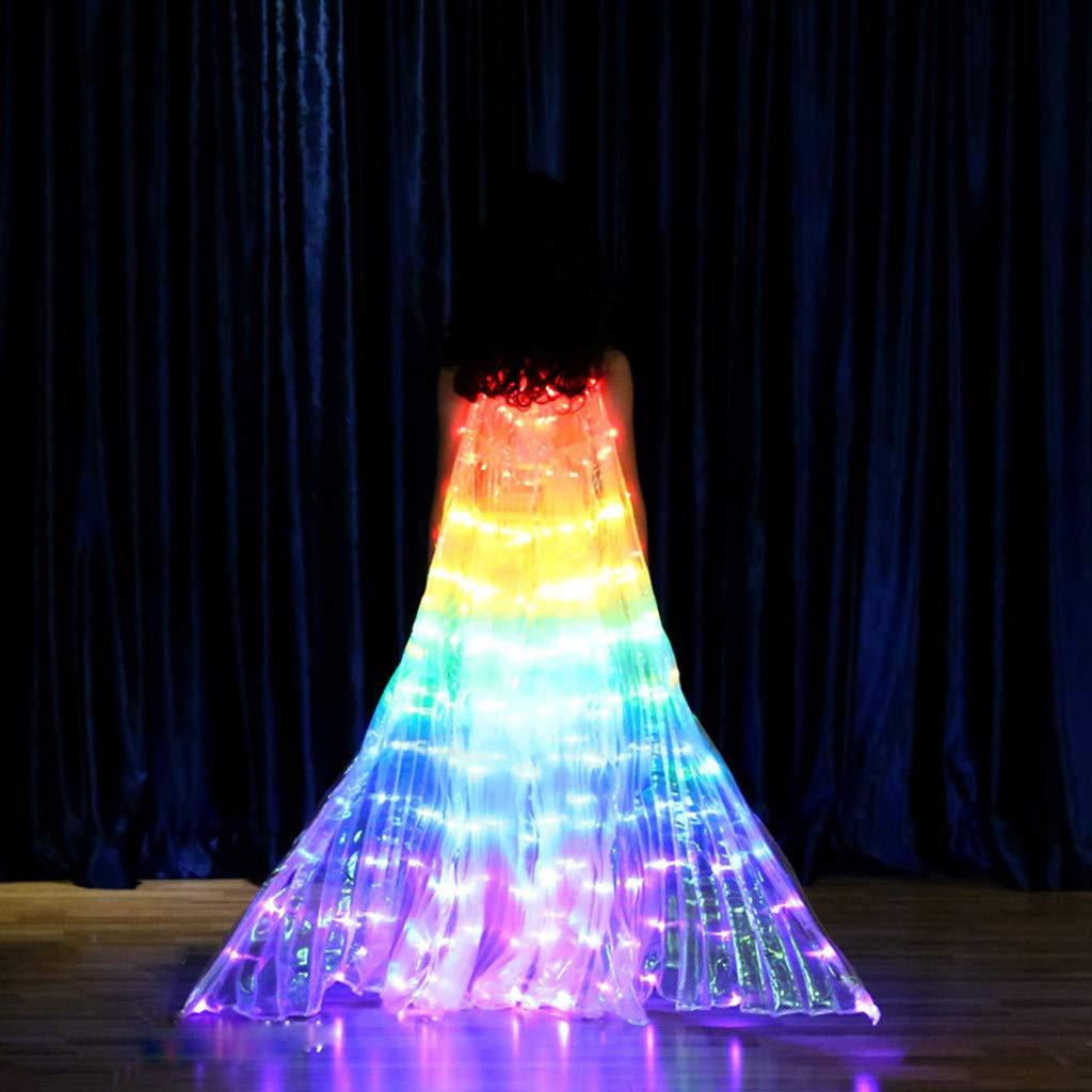 Amazon.com: Alas de ángel con luces LED para danza del ...