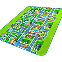 MATE Kids Rug City Life Fun Play Carpet for Boy and...