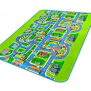 Amazon Com Mate Kids Carpet Rug Mat City Life Play Carpet City Map