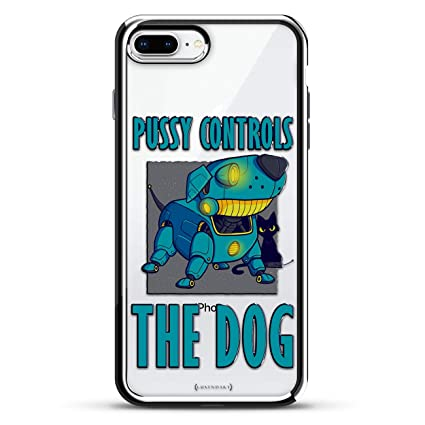 Pussy Controls the Dog | Luxendary Chrome Series designer case for iPhone 8/7 Plus in Silver