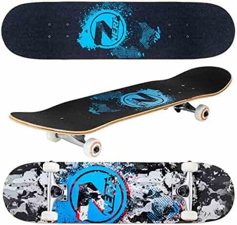 "b6f89e39ef Flybar 31"" x 8"" Complete Beginner Skateboards 7 Ply Maple Wood Board Pre  Built"