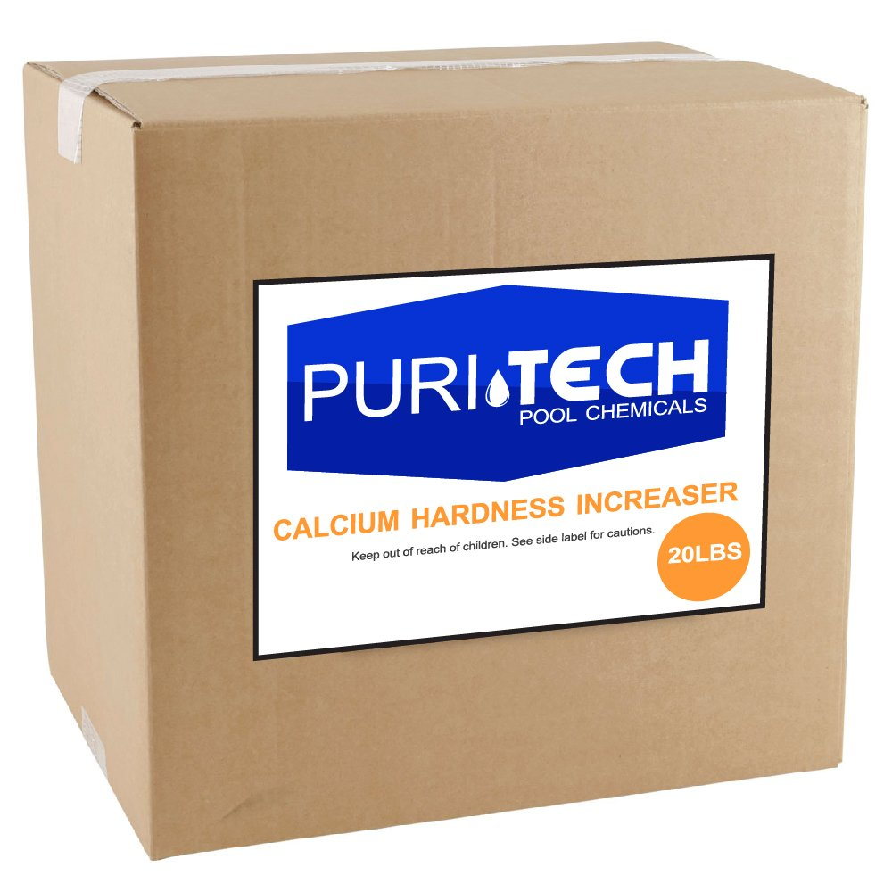 Puri Tech Pool Chemicals 20 lb Calcium Hardness Increaser Plus for Swimming Pools & Spas Increases Calcium Hardness Levels Prevents Staining on Surfaces by Puri Tech