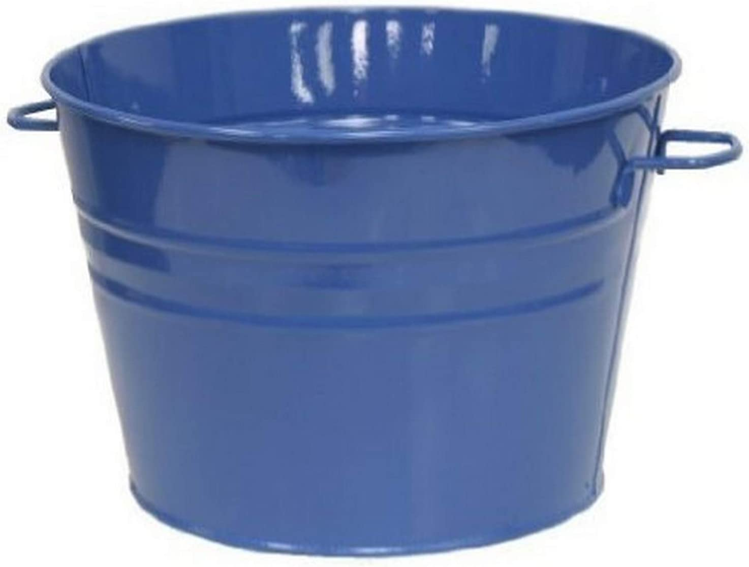 Houston International 6085E B 13.5-Inch Steel Planter/Tub, Blue