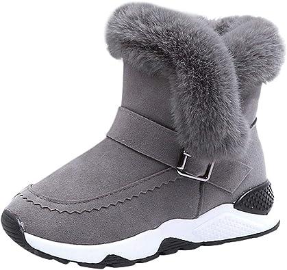 DAY8 Chaussures Garçon Hiver Chaud Basket Fille Pas Cher Mode Sneakers Enfant Fille Sport Botte Neige Fourrure Garçon Antidérapant Semelle Caoutchouc