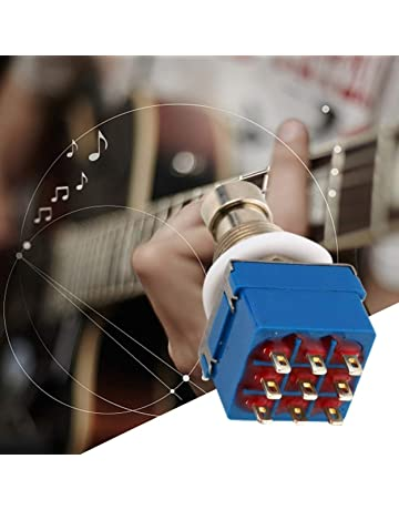 Lorenlli Caja de pedales de efectos de guitarra 3PDT de 9 pines Stomp Foot Metal Switch