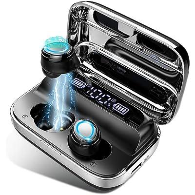 Auriculares Bluetooth 5.0 Inalámbricos Deportivos Auriculares In-Ear Impermeable IPX7 Sonido Estéreo 6D,Autonomía Auto-On/Off Emparejamiento Sonido, Compatible con Dispositivos Que admiten Bluetooth