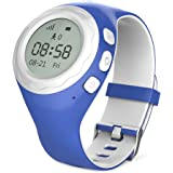WATCHU for Kids Phone Watch with GPS Tracker - Check Your Child's Whereabouts - Don't Get Lost - SOS Button with Voice Chat - Call Them from Your Mobile - UK App - UK Technical Support (Bubblegum Blue)