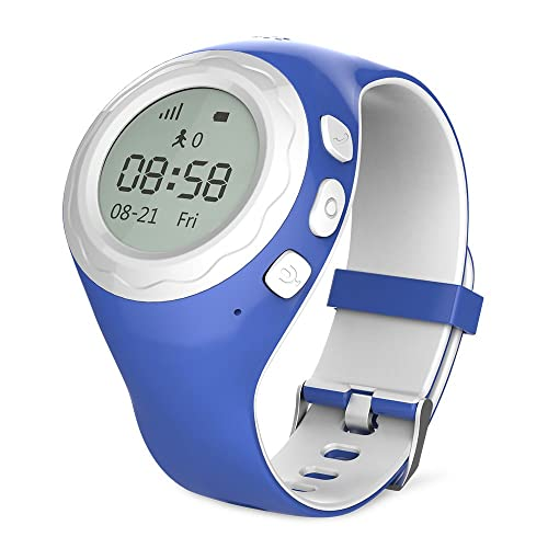 WATCHU for Kids Phone Watch with GPS Tracker - Check Your Child's Whereabouts - UK App - UK Company - UK Technical Support (Bubblegum Blue)