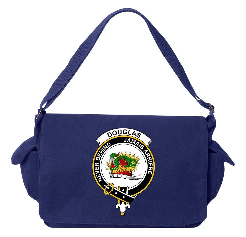 Tenacitee Scottish Clan Crest Badge Douglas Maroon Brushed Canvas Messenger Bag