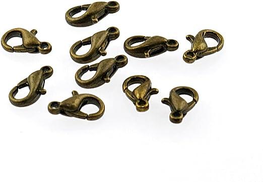 Knebelverschluss für Bänder in antik bronzefarben 1 Stück von Vintageparts DIY