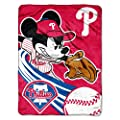 MLB Philadelphia Phillies Disney's Mickey CoBranded Micro Raschel Throw