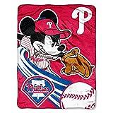 "The Northwest Company MLB Philadelphia Phillies Disney's Mickey CoBranded Micro Raschel Throw, 46"" x 60"""