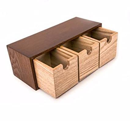 lzzfw Caja de regalo de Navidad Caja de regalo de Navidad Cajón de madera sólida Caja