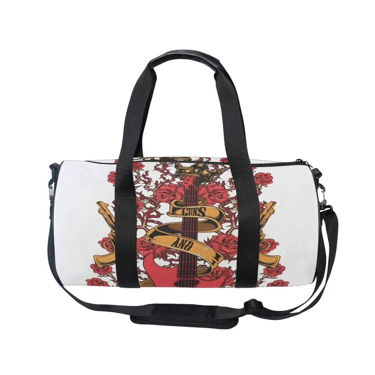 Travel Duffels Pattern With Roses Duffle Bag Luggage Sports Gym for Women /& Men