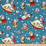 Michael Miller Retro Rocket Rascals Multi Fabric By The Yard