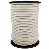 Corde Cordage en Coton 5mm 100m Blanc Crème tressé