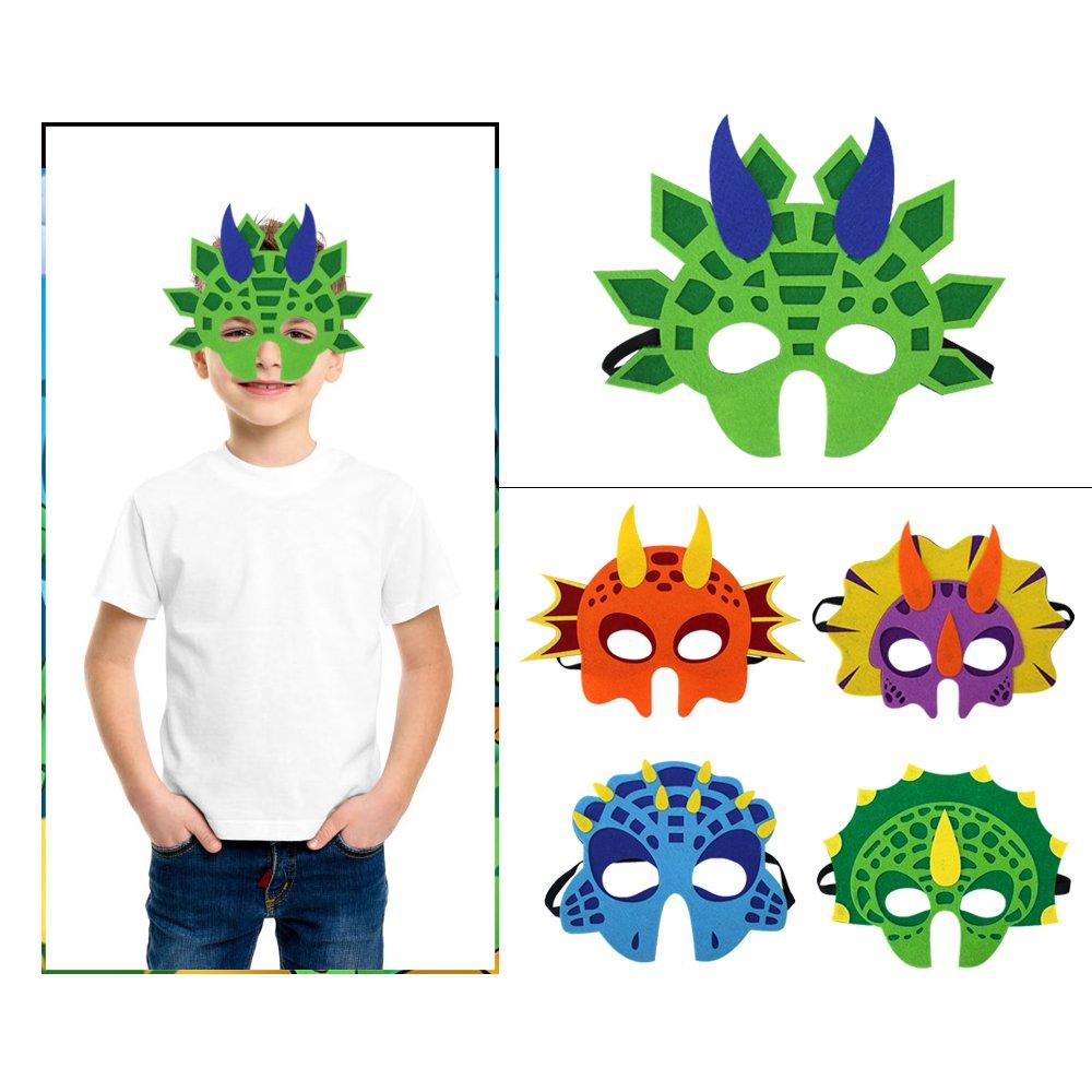 Niños Máscaras de animales de dinosaurio Felt Party Masks ...