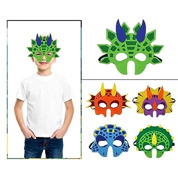 Niños Máscaras de animales de dinosaurio Felt Party Masks para Rol Cosplay Fiesta de cumpleaños Favorecen