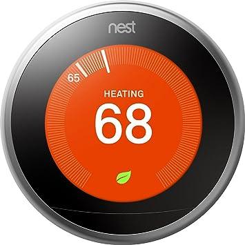 Google, T3008US, Nest Learning Thermostat, 3rd Gen, Smart ...