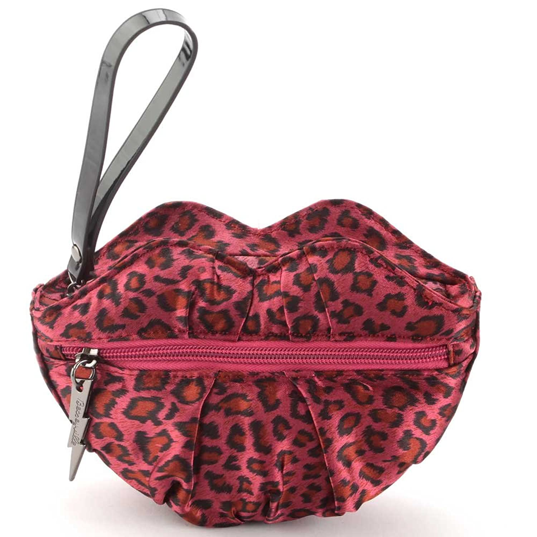 Betseyville Cheetah Lips Wristlet Bag - Red