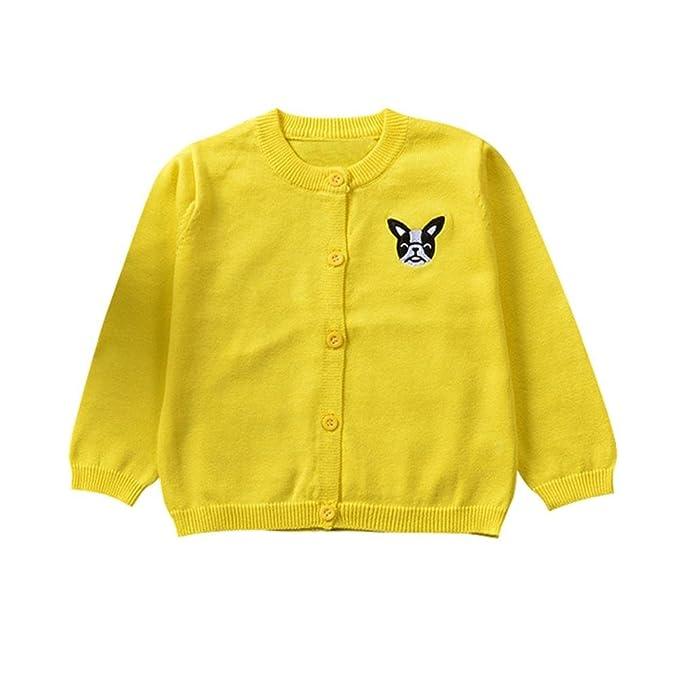 QUICKLYLY Cárdigan Suéter de punto para bebés niña niño Chaquetas y abrigos Ropa de Tejer: Amazon.es: Ropa y accesorios